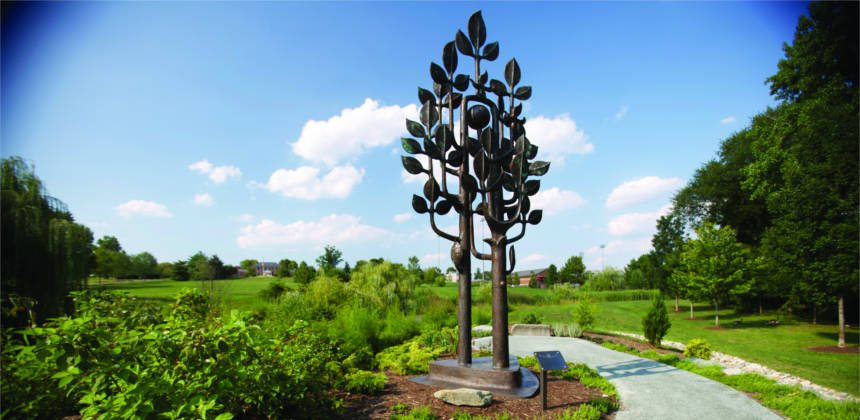 Peace Tree sculpture