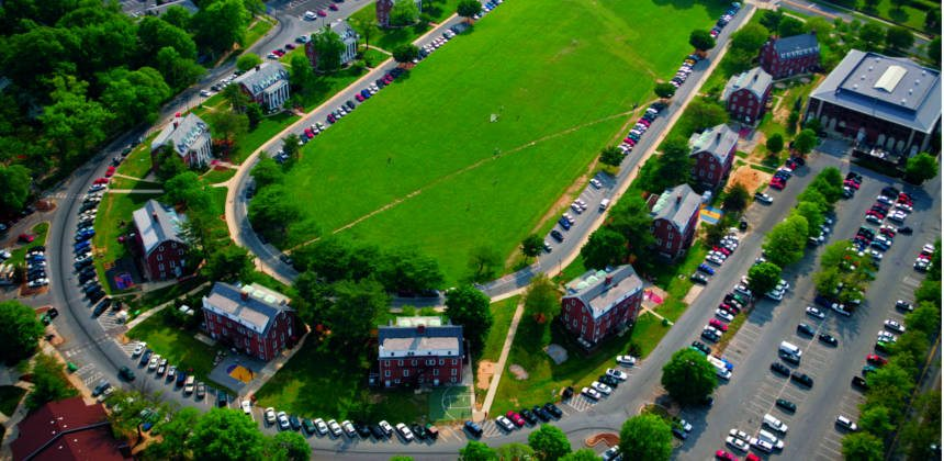 Fraternity Row from above