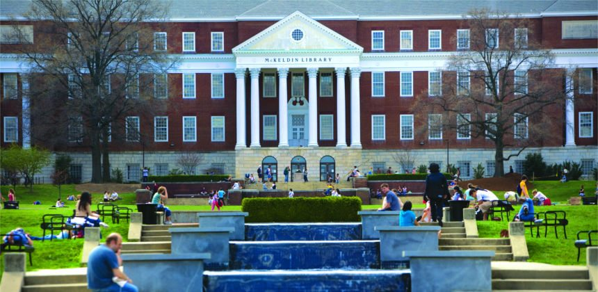 McKeldin Library and Fountain