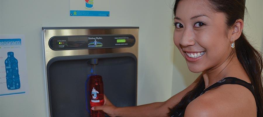 Bottle refill station