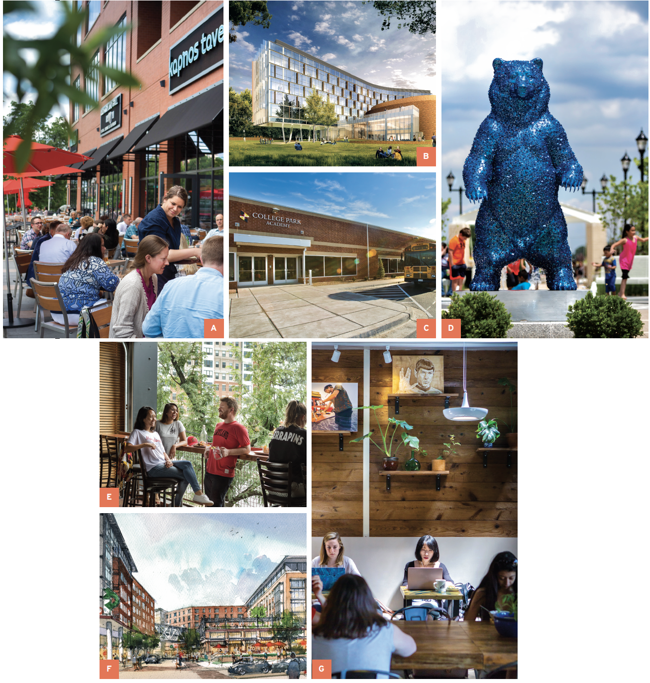 College Park Locations Collage