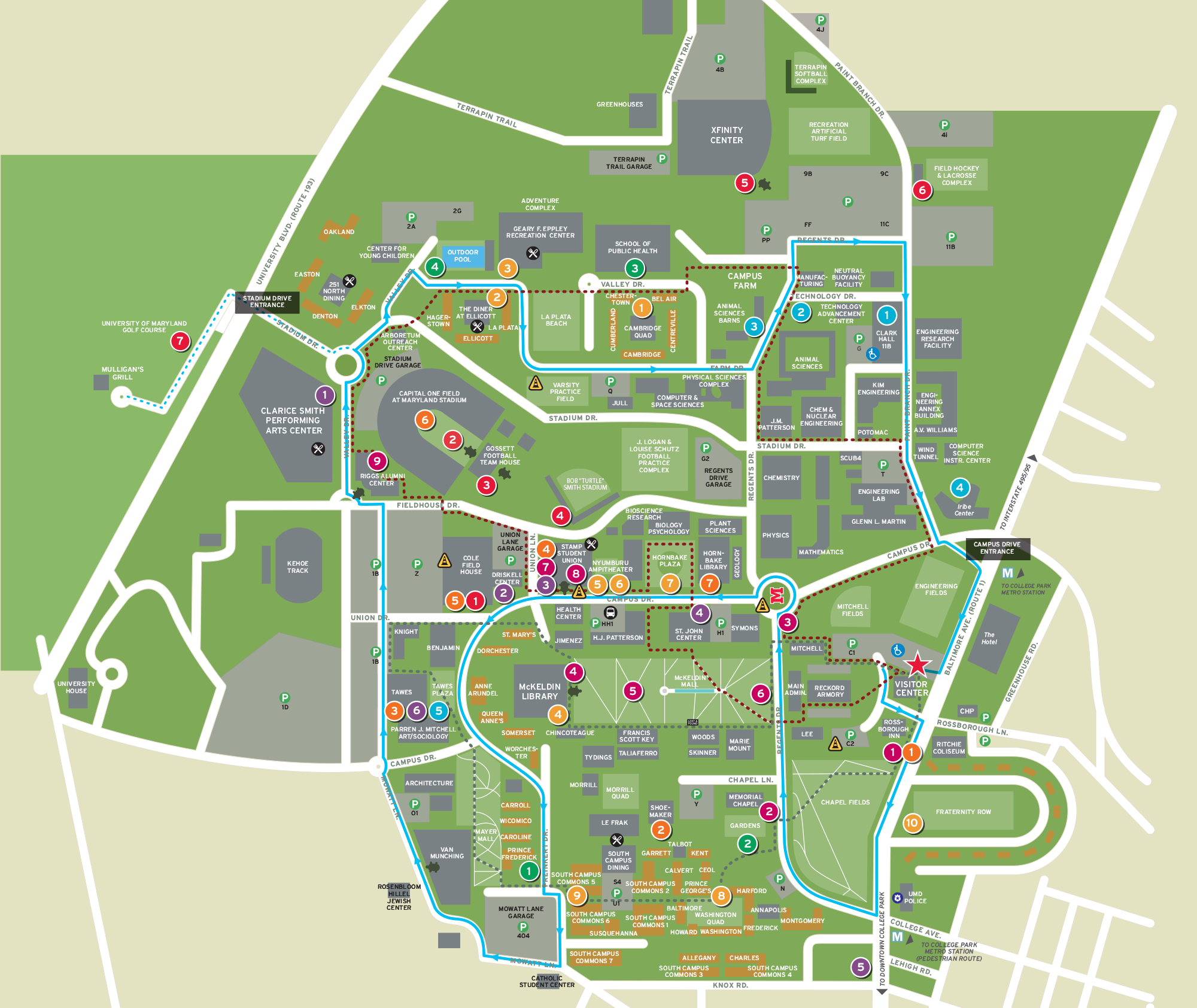 University of Maryland Campus Map